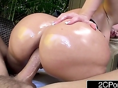Notorious Big Booty Blonde Bimbo Alena Croft Tries Anal be fitting of the First Time