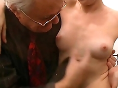 Young blonde woman fisted with an increment of screwed