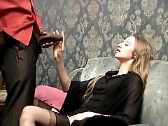 Smoking white slut wants to be fucked by her sinister servant