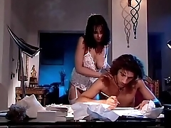 Writer can'_t resist to her hot girlfriend in sexy lingerie