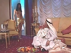 Vintage porn for the Venere Bianca with an arabian sultan