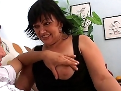 Young caitiff public schoolmate caugh with a porn dvd by a horny milf