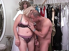 Grandma gets trashed by dick half her age