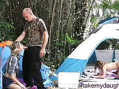 Daddy Daughter Outdoor Orgy