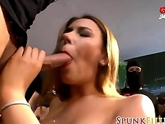 Gangbang Stockings Hottie - GermanGooGirls