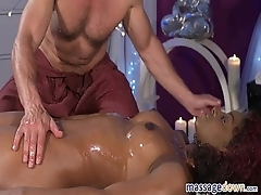 Squirting Orgasm For Hot Black Girl - George And Jasmine Webb
