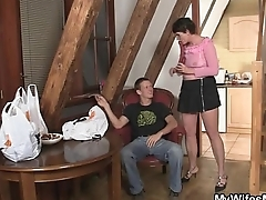 Cock-hungry old bitch seduces son-in-law