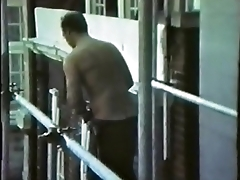 stripping construction worker