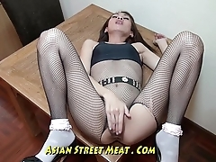 Nice Slimy Anal Fuck Up Super Asian Slapper