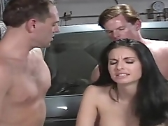 beautiful girl fucked by 2 mechanic