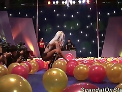 busty milf sex show on stage