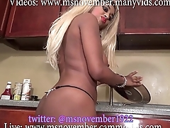 Gigantic Tits Ebony Teen Pocket-sized body Washes Dishes Naked Buy Full Video Now