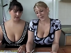Two busty moms are posing on the cam - www.sexhotgirlscam.com