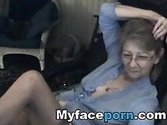 Lovely granny with glasses 3 - MyFacePorn.com