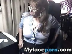 Lovely granny with glasses 6 - MyFacePorn.com