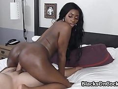 Star wannabe black rides my dick at motel