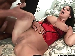 Milf Mandy Bright gets trashed by two cocks