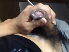 20 days of nofap, ejaculation without full erection[Orgasm twice, Intense cumshot].MOV