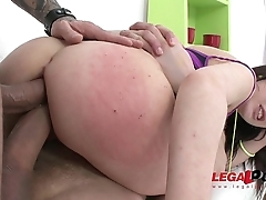 Teen beauty Catrine Reverence DAP'_ed for the first time and falls in love