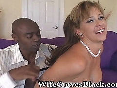 Shared Wifey Riding A Large Cock