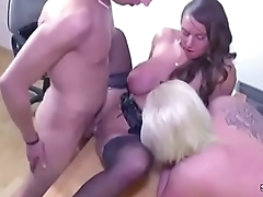 Young German Couple in Threesome Fuck by Female Casting