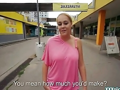 Public Sex With Czech Teen Amateur In The Street For Cash 25
