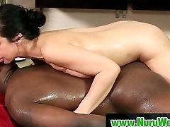 Busty Japanese Babe Gives Nuru Massage And More 27