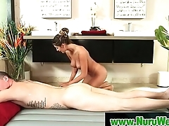 Busty Japanese Babe Gives Nuru Massage And More 23