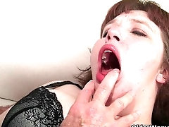 BBW milf Cherie A. Lunas gets fucked together with facialized