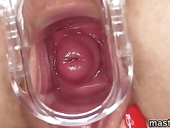 Nasty czech nympho spreads her yummy vagina to the unusual