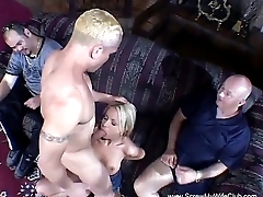 Blonde Swinger Makes Hubby Jealous