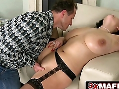 Lucky Guy Dominated by Titanic Natural Tits - Shione Cooper