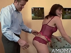Sex addicted mommy in a hot action