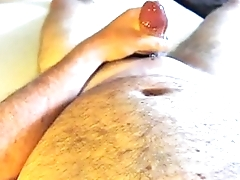 horny bear shooting a huge saddle with
