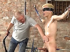 BDSM Alexis Tivoli cute blond slave boy tied up whipped