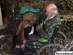 Young nurse sucks old guy'_s dick and gets her pussy satisfiedhi-1