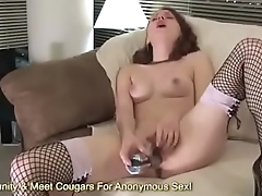 Sexy Redhead Stimulates Her Clit Until She Cums