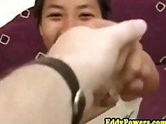 Young asian pussypounded after getting licked