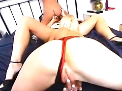 2 Stunning English Blondes Treat A Hungarian Girl To Her First Lesbian Experienc