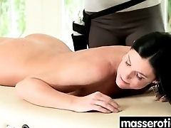 Gorgeous masseuse explores the body of a sexy lesbian beauty 12