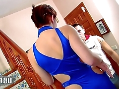 Young brunette fucked in the ass by Andrea Moranty