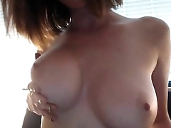 Great tits on a MILF - camdystop.com