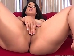 Nadia Ali playing with Deathly white dicks