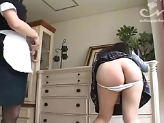 SpankBang girl asks for a spanking from a maid 480p