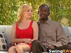 Cum-hungry wife drains guy'_s dick during hot swinger party