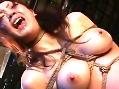 Asian unsubtle hanged and whipped brutaly