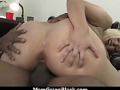 Big tits bounce on a black cock and mom joins in 26
