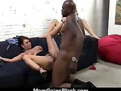 Big tits bounce on a black horseshit and mom joins in 16