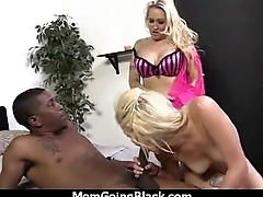 Big bosom bounce on a black cock and mom joins in 1