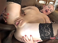 French MILF Mia Wallace Crazy for the Big Black Cock - Gets Smashed!